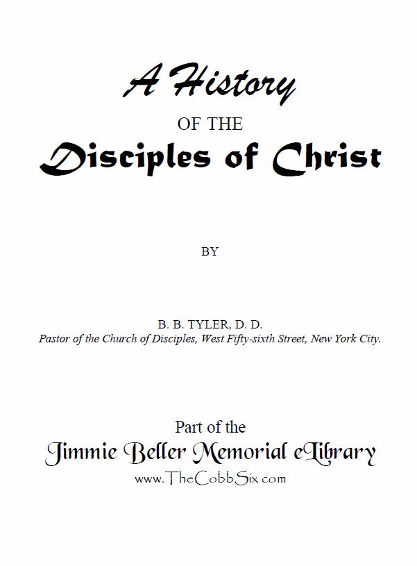 Tyler-HistoryOfDisciples