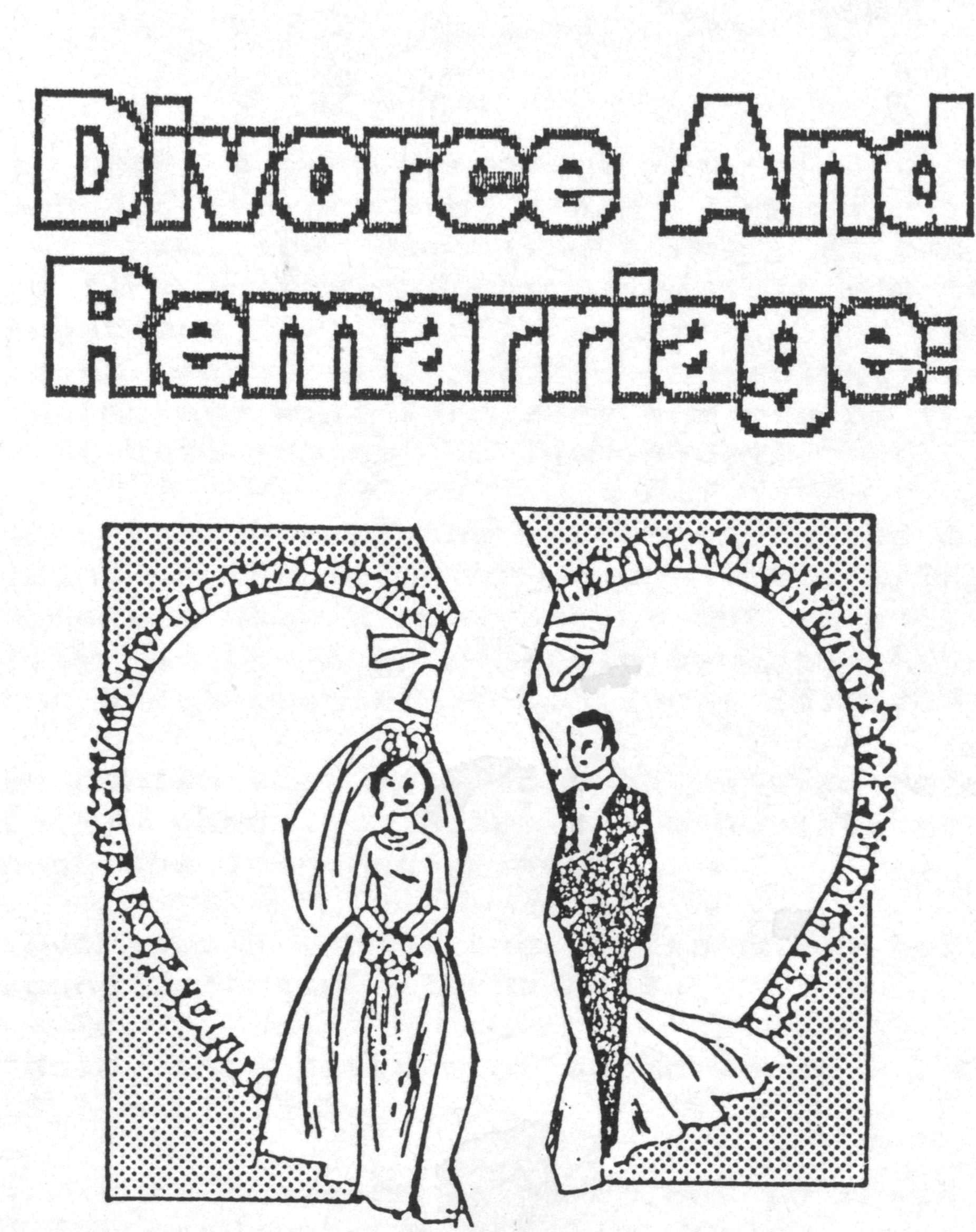 Emotional Arguments About Marriage, Divorce, and Remarriage